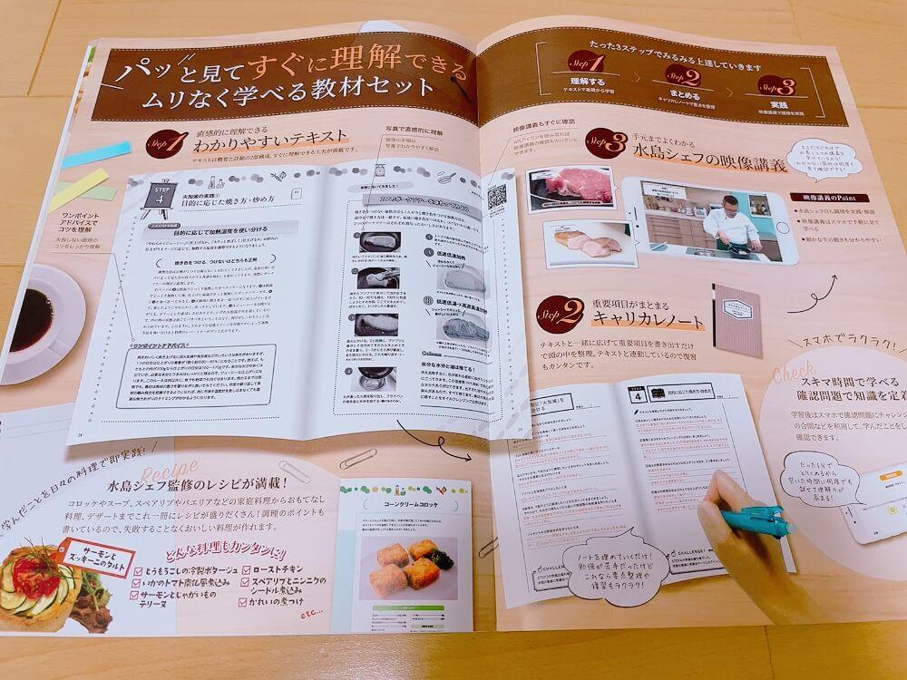 キャリカレの絶対に失敗しない調理実践講座の資料