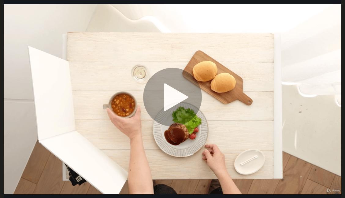 料理写真の撮り方の動画教材