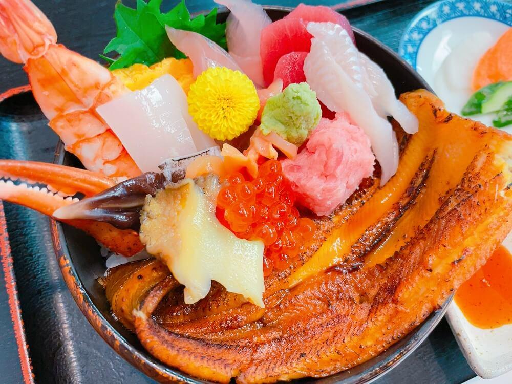 富津の大定の海鮮丼
